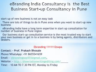 Consultancy is  the Best Business Start-up Consultancy in Pune