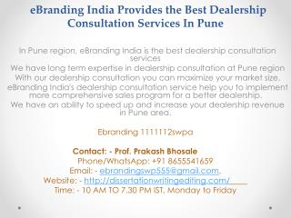 Best Dealership Consultation Services In Pune
