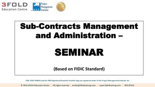 Sub-Contracts Management and Administration