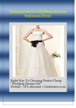 Right Way To Choosing Perfect Cheap Wedding Dresses NZ
