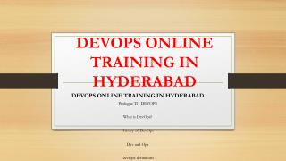 Devops Online Training Hyderabad