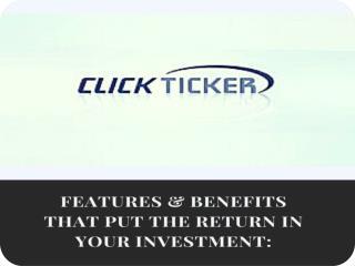 clickticker Features & benefits