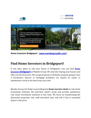 Home Investors Bridgeport