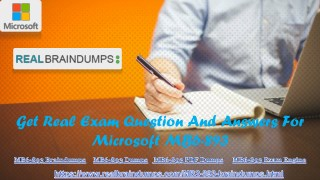 Get Real Exam Question And Answers For Microsoft MB6-893