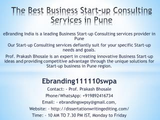 The Best Business Start-up Consulting Services in Pune