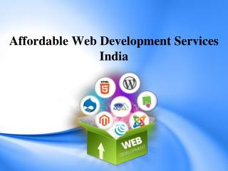 Affordable Web Development Services India