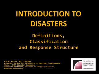 Introduction to Disasters