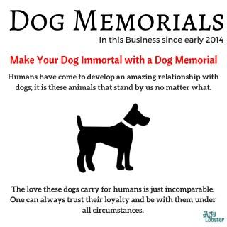 Dog memorials online in London