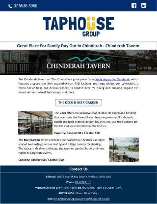 Great Place For Family Day Out in Chinderah - Chinderah Tavern