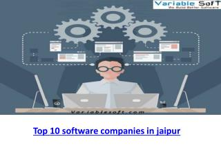 Best in Top 10 software companies in jaipur, INDIA