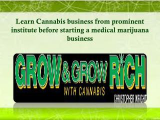 Learn Cannabis business from prominent institute before starting a medical marijuana business