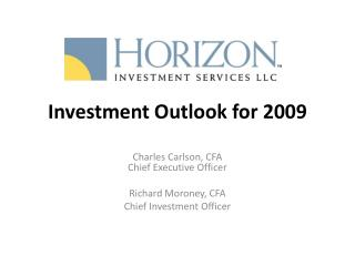 Investment Outlook for 2009