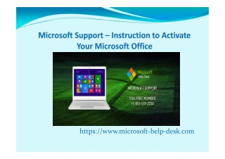 Microsoft Support – Instruction to Activate Your Microsoft Office