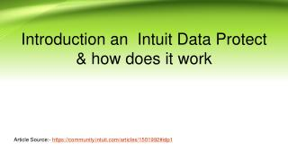 Introduction an Intuit data project