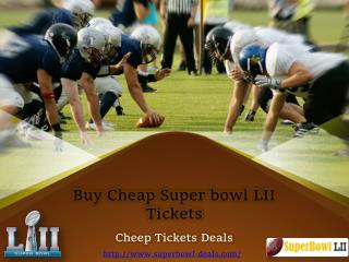 Cheap Superbowl LII Tickets
