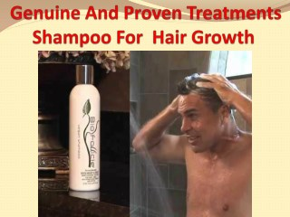 Genuine And Proven Treatments Shampoo For  Hair Growth