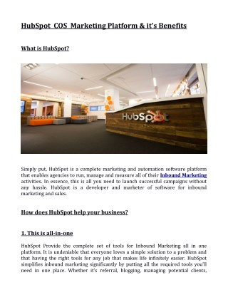 How does HubSpot help your business?