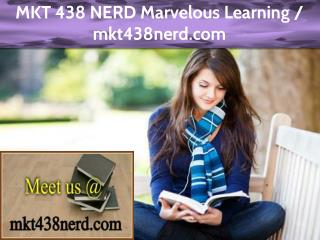 MKT 438 NERD Marvelous Learning / mkt438nerd.com