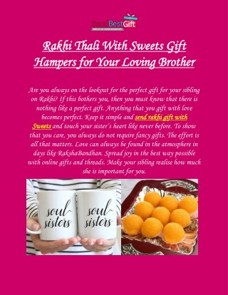Rakhi Thali With Sweets Gift Hampers for Your Loving Brother