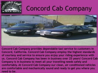Concord Cab Company
