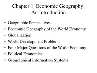 Chapter 1  Economic Geography: An Introduction