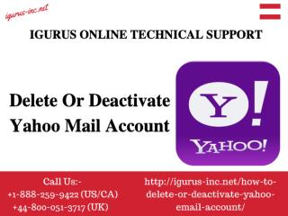 Difference Between Deletion & Deactivation Yahoo Account