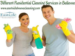 Different Residential Cleaning Services in Bellevue