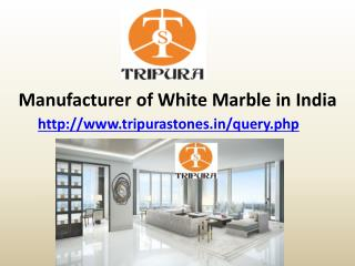 Manufacturer of White Marble in India