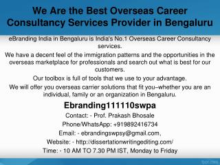 We Are the Best Overseas Career Consultancy Services Provider in Bengaluru