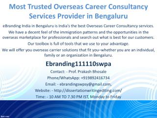 Most Trusted Overseas Career Consultancy Services Provider in Bengaluru
