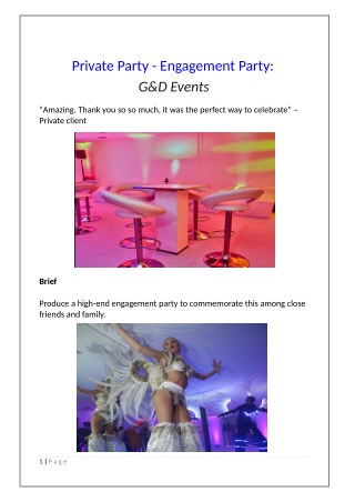Private Party - Engagement Party: G&D Events