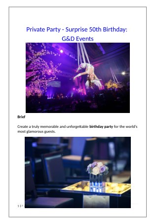 Private Party - Surprise 50th Birthday: G&D Events