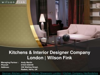 Best Kitchen Company in London Wilson Fink