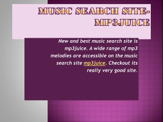 Music Search Site-Mp3juice