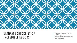 Ultimate Checklist of Incredible eBooks - Print2eforms