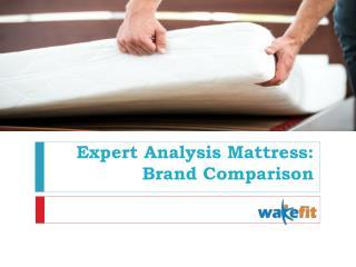 Expert Analysis Mattress Brand Comparison
