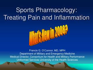 Sports Pharmacology:  Treating Pain and Inflammation