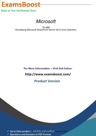 70-488 PDF Demo