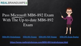 How Can I pass my MB6-892 Exam