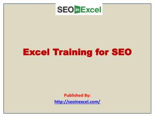 SEO in Excel