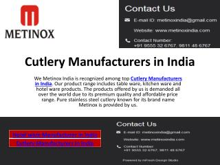 Cutlery Manufacturers in India