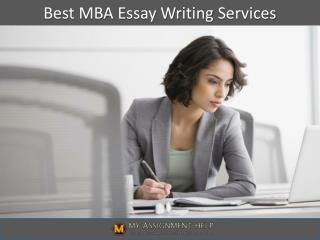 Best MBA Essay Writing Services in UK