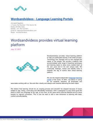 Online language learning classes