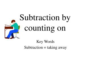 Subtraction by counting on