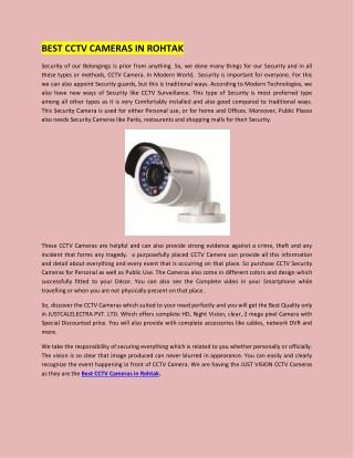 Best cctv cameras in rohtak