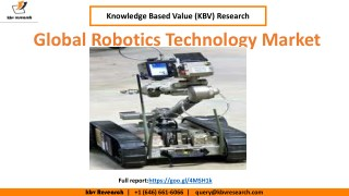 Robotics Technology Market Estimation