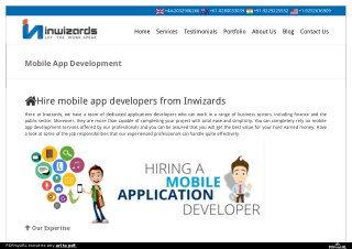 Hire Mobile App Developer for Android, iphone and Windows