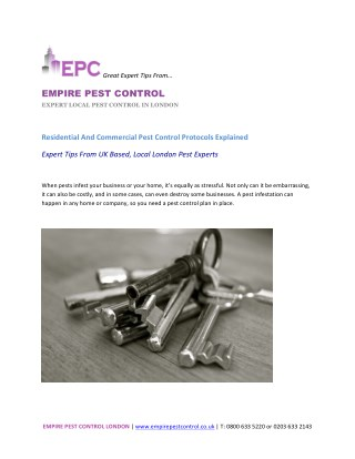 Residential And Commercial Pest Control Protocols Explained