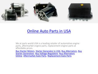 Online Auto Parts in USA