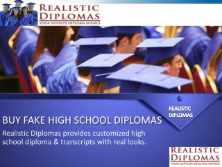 Buy Fake High School Diplomas Online